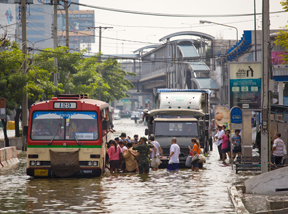 Megacities exposed to flood risk
